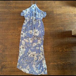 Lush blue floral dress- XS